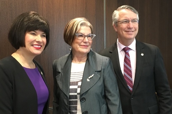Minister Petitpas Taylor, Louise Bradley, and Lloyd Longfield